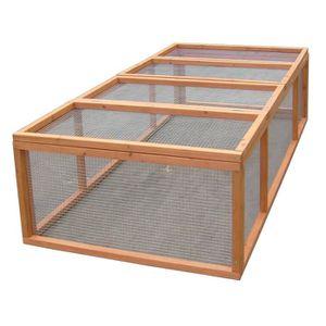 Enclos au sol grillagé sans toit pour 4-5 animaux 1,6m?