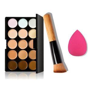 PINCEAUX DE MAQUILLAGE 15 couleurs de maquillage anticernes contour palet