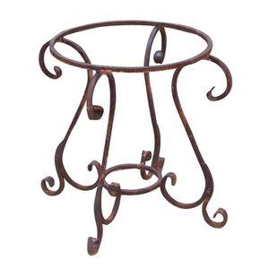 TABLE À MANGER SEULE Table ronde en fer de 65x60 cm de diamètre