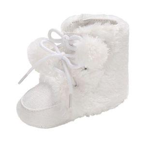 6e997591be5f3 CHAUSSON - PANTOUFLE Chaussures Bébé fille garçon cheveux doux bandage ...