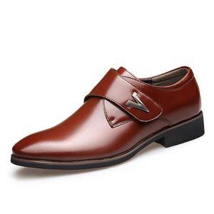 RICHELIEU Marron Mode Cuir Chaussures Hommes Richelieu