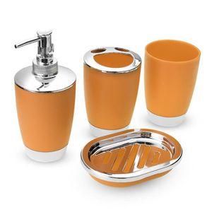 Accessoires salle de bain orange - Achat / Vente pas cher