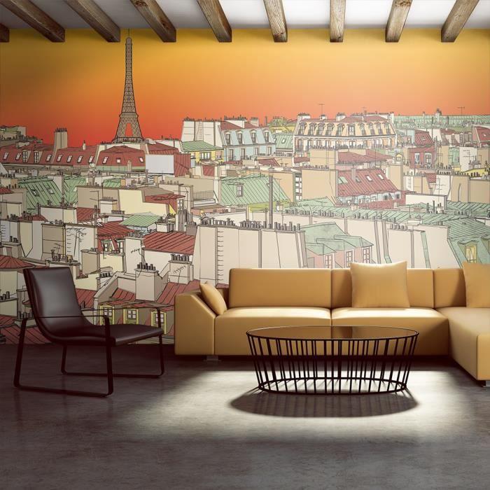 Papier peint XXL - Un soir à Paris insolite - 550x270cm - Achat ...
