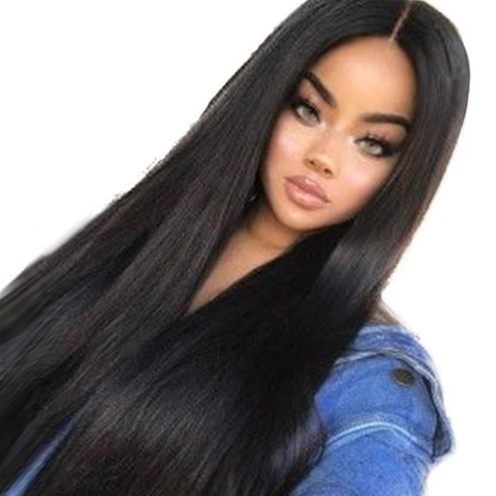 Femmes longues perruques cheveux synthétiques