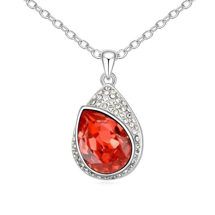 Cristaux Swarovski et Preciosa Strass Collier diamant pendentif de femmes. Tous les jours - Tenues de soirée Fashio T5MRU