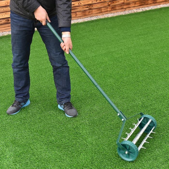 scarificateur a rateur pour pelouse d mousseur de gazon scarificateur rouleaux de gazon. Black Bedroom Furniture Sets. Home Design Ideas