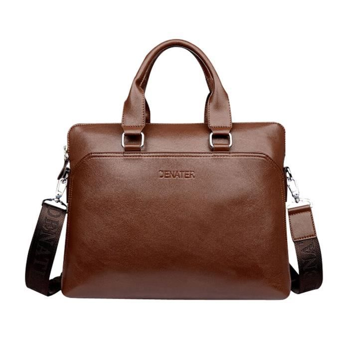 bandoulière sac Briefcase Messenger Business à clair hommes main brun de qvZvwUE