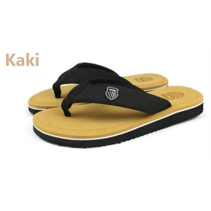 Hommes sandales mode sandales glisser kaki