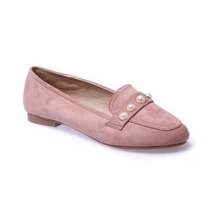 La Modeuse - Mocassins slippers en suédine
