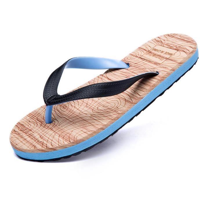hommes sandales Antidérapant Respirant sandale de plage pour homme platform thong sandals chaussure homme tend dssx136bleu43
