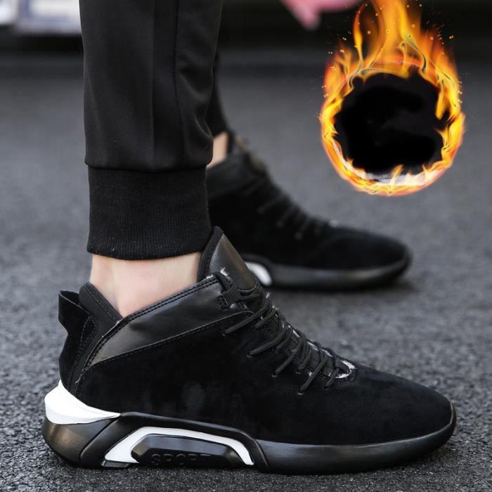 Chaussures de sport pour hommes mode casual de haute qualité ainsi que des chaussures de basket-ball en velours respirant