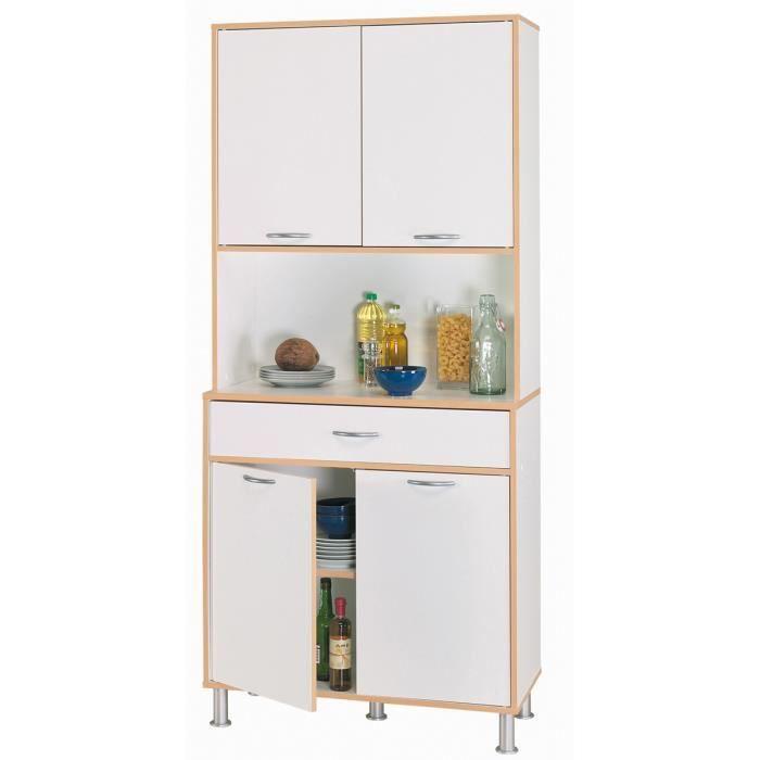 buffet avec 4 portes 1 tiroir blanc velours l82 8 x p40 1 x h185 3 cm achat vente buffet de