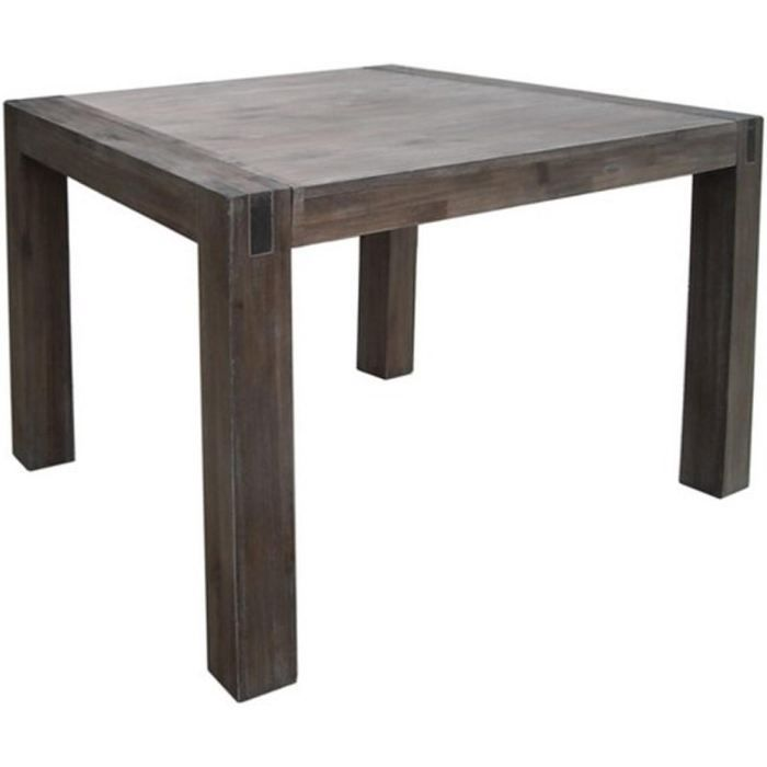 130x130 En Cm Vente Carrée Achat Acacia Table Massif Stacey… kXZiuP