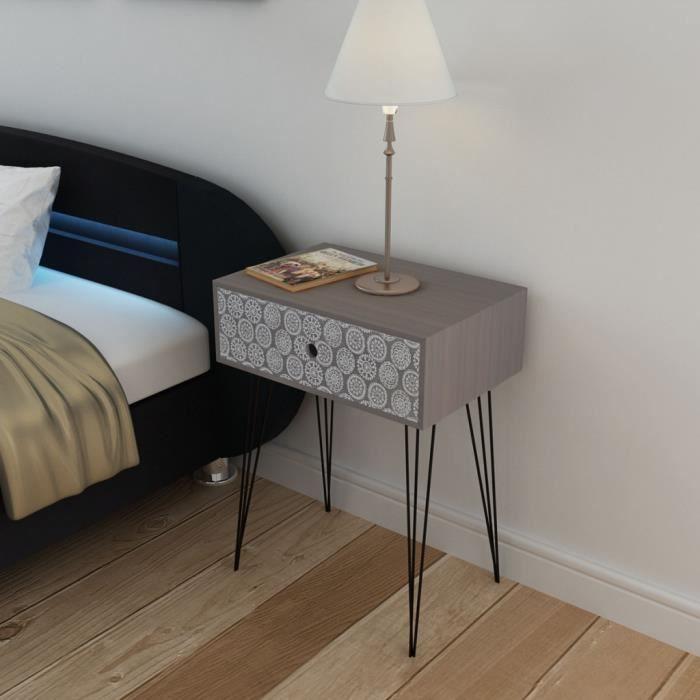 table de chevet gris achat vente table de chevet gris pas cher soldes d s le 10 janvier. Black Bedroom Furniture Sets. Home Design Ideas