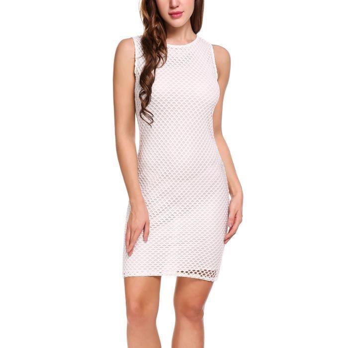 robe courte Sexy femmes creusent sans manches