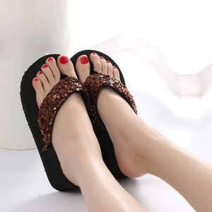 Sandales anti-dérapantes d'été de paillettes de femmes Pantoufles intérieures et extérieures de pantoufle @SJF80104733SL ohnxL9