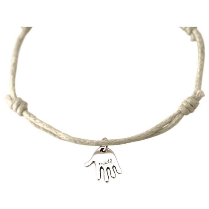 Gemshine - Dames - Bracelet - Gravure - LA VIE EST BON - Argent - Nu