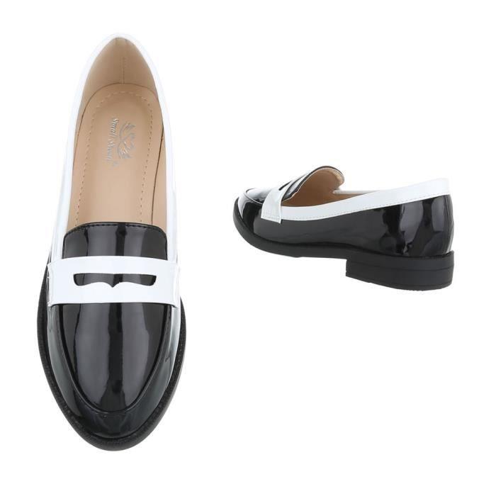 Noir 41 Femme Rouge Chaussures beige noir Fl neurs Mocassin nwXxOIq