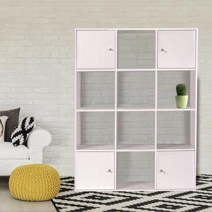 Meuble escalier blanc achat vente meuble escalier for Meubles 9 cases