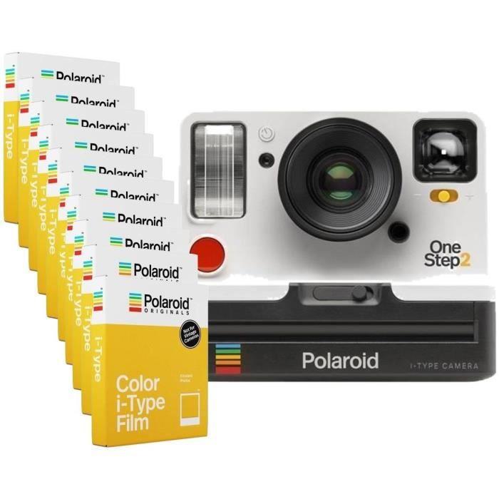 Pack Evénement : Polaroid OneStep2 - Avec Viseur - Appareil photo instantané - Blanc + 80 Films