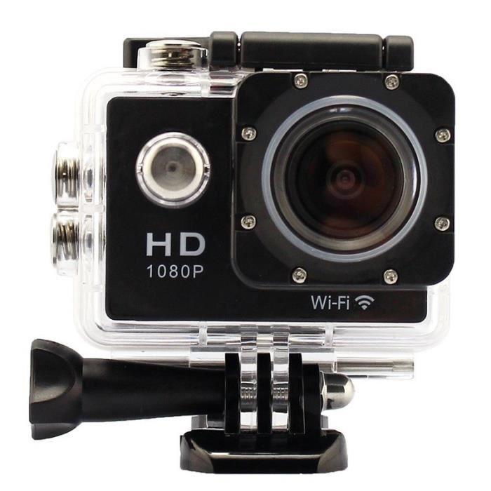 Action Cam Caméra sportive Full HD 1080p - 12 mégapixels - Wi-Fi - Étanche 30m
