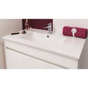Meuble haut blanc avec prise salle de bain achat vente for Ensemble meuble salle de bain 80 cm pas cher
