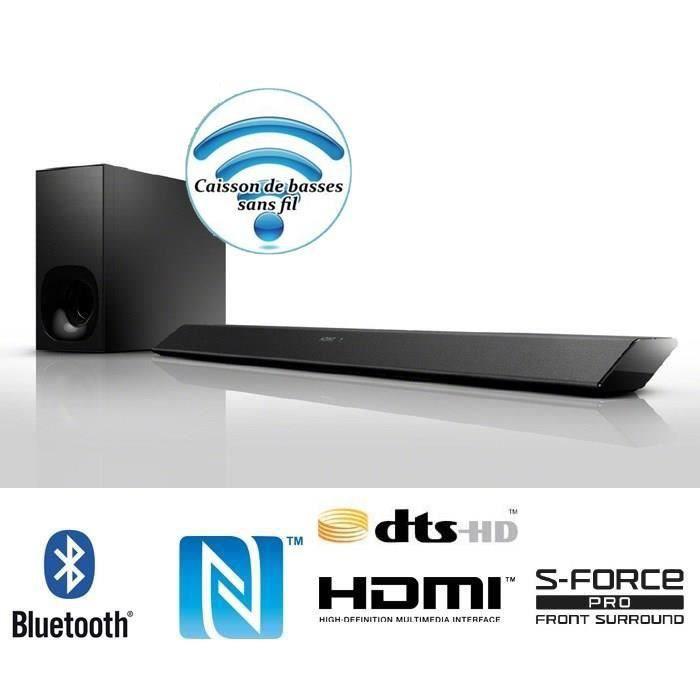 sony ht ct380 barre de son 2 1 avec caisson de bas barre de son avis et prix pas cher cdiscount. Black Bedroom Furniture Sets. Home Design Ideas