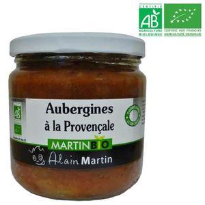 CONSERVE D'AUBERGINE Aubergines à la Provençale BIO 380G
