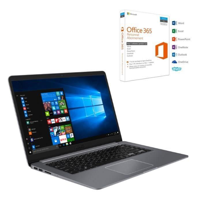 5b622ddafde7d9 ... Office 365 Personnel. ORDINATEUR PORTABLE Pack ASUS PC Portable  R520UA-BR580T 15,6