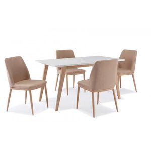 table manger complte table scandinave 4 chaises confortable - Table Chaise