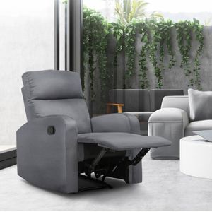 FAUTEUIL Fauteuil relax inclinable gris anthracite