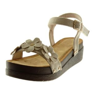 SANDALE - NU-PIEDS Angkorly - Chaussure Mode Sandale Mule plateforme