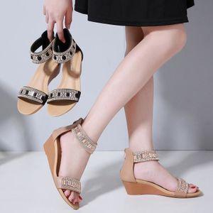 SANDALE - NU-PIEDS Mode Femmes Sandales Chaussures Compensées Bohême