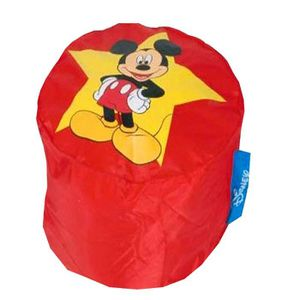 POUF - POIRE Pouf Rond Mickey Mouse ROUGE