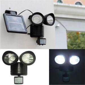 BALISE - BORNE SOLAIRE  22 LED Lampe Solaire Exterieur Détecteur de Mouvem