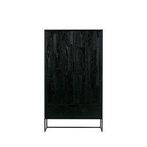 BUFFET - BAHUT  Buffet haut design en bois Silas - Couleur - Noir