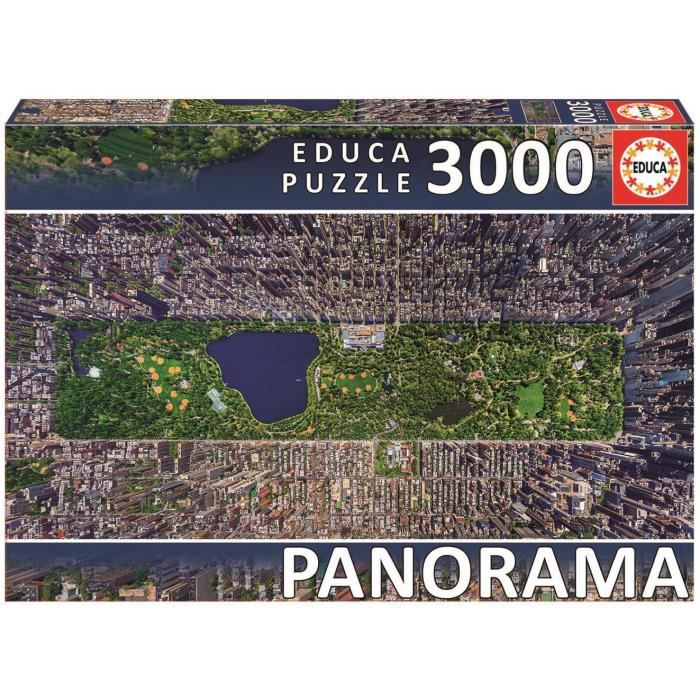 EDUCA Puzzle 3000 Pièces - Central Park New York Panorama