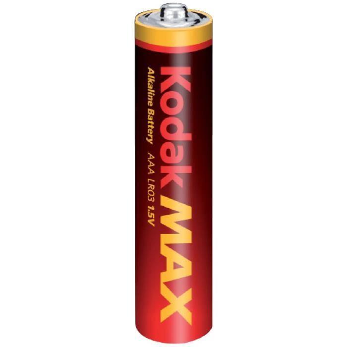 KODAK Lot de 4 Piles alcaline MAX LR03/AAA - 1,5V