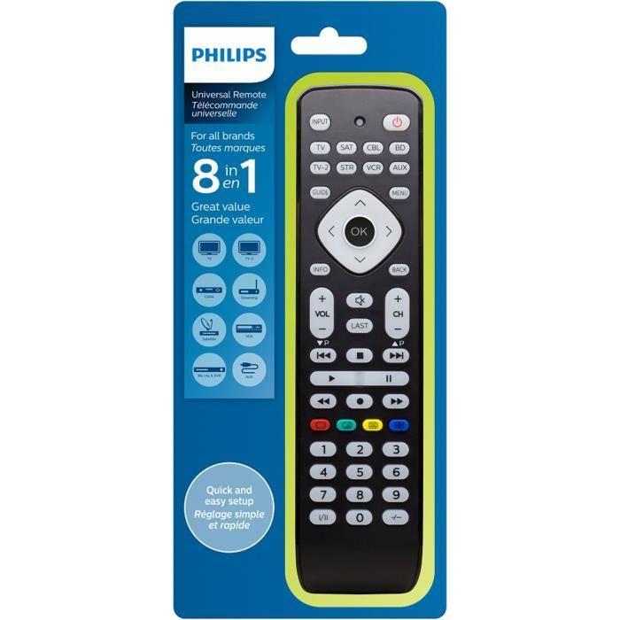 PHILIPS SRP2018 Télécommande universelle 8 en 1