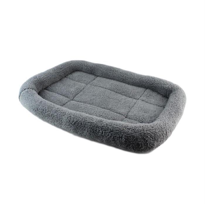 Doux En Peluche Pet Chien Chiot Chat Lit Automne Hiver Maison Nid Taille S (gris)