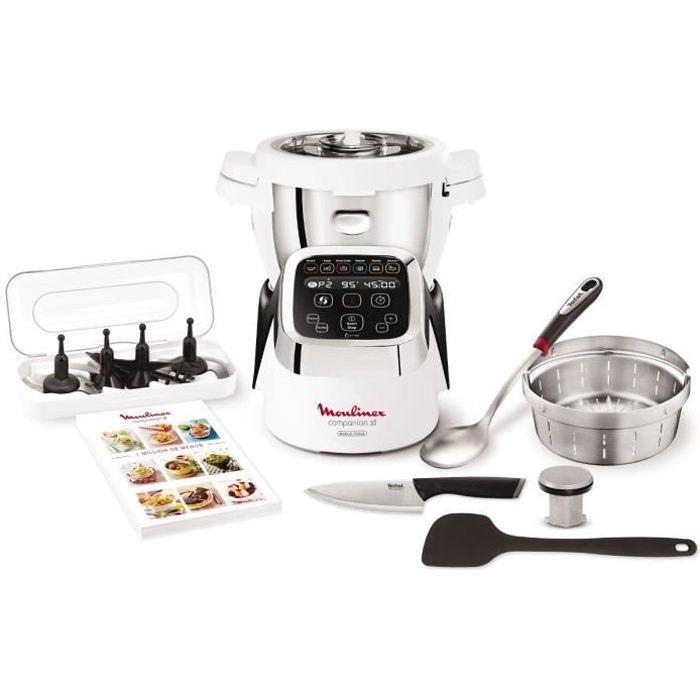 moulinex hf805810 robot cuiseur companion xl avec bol 3l + 6