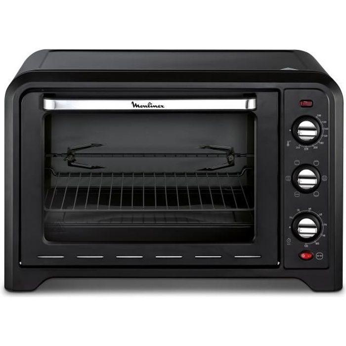 MOULINEX OX485810 - Mini four grill - 39L - 2000 W - Grill 1000 W - Chaleur  tournante - Noir 955bb7544e87