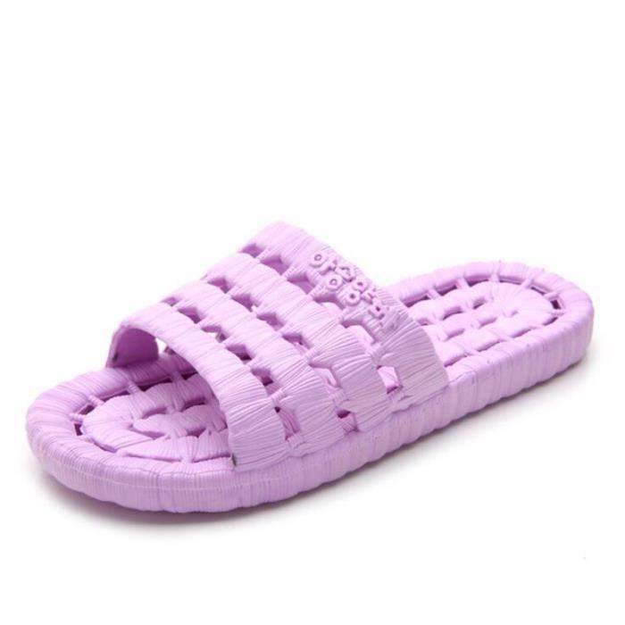 3d76bf3d5931e4 Pantoufle femme Confortable Grande Taille Plus Taille Chaussures pour femmes  plages rétro massant plein air tendance luxe chaussure