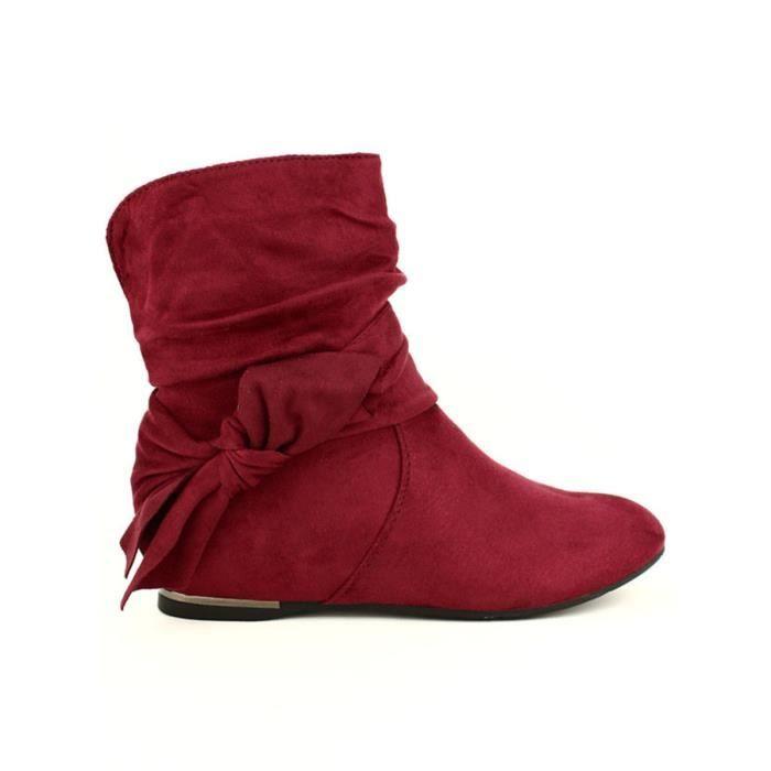 bottine - boots, Bottines Bordeaux Chaussures Femme, Cendriyon