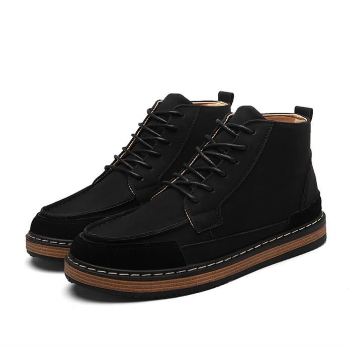 Bottine homme 2017 nouvelle marque de luxe chaussure Antidérapant Chaussures Confortable Grande Taille bjOFSS9tpC