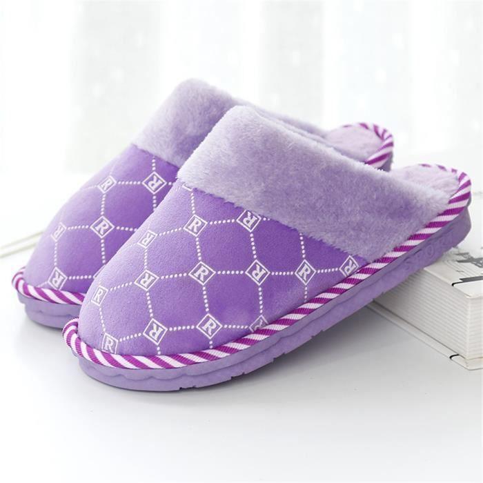 chaussons femme simple Nouvelle arrivee chausson pantoufle femme chaud hiver peluche 2018 Nouvelle mode Plus Taille 37-41