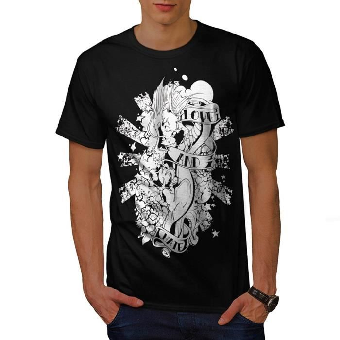8b93af6880b37 Pas Cher Homme T shirt Pour Homme Short Sleeve T shirt Love Hate Dragon  Throne Game Homme Casual Shirt