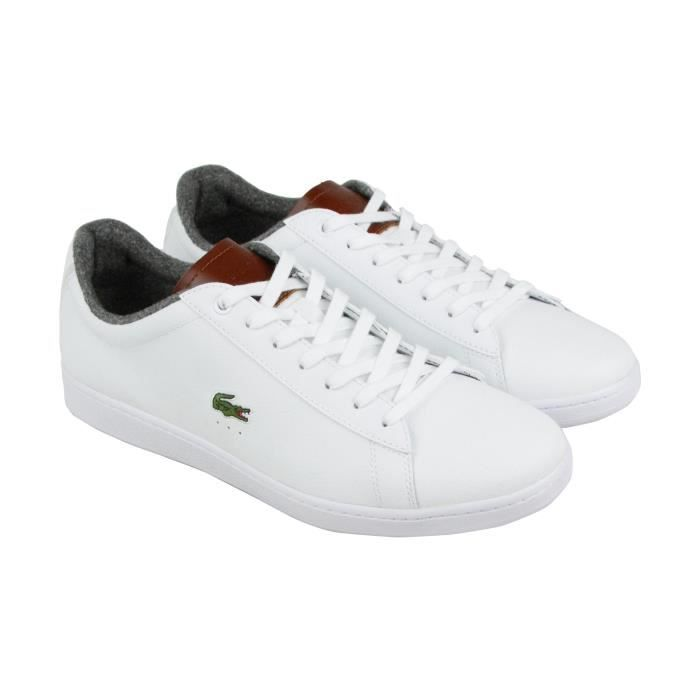 38ea17a657 Lacoste Men's Carnaby Evo 318 2 Spm White Leather Sneakers Shoes ...