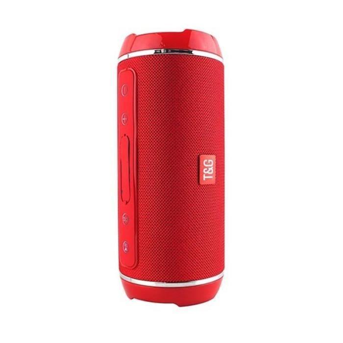 Elegant Haut-parleur Sans Fil Bluetooth Exterieur Portable Prend En Charge La Lecture De Disque U Carte Tf (rouge)