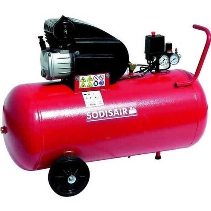 compresseur sodisair 100 litres 2 5 cv s11232 achat. Black Bedroom Furniture Sets. Home Design Ideas